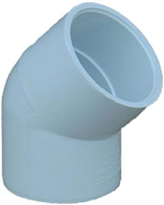 Pvc Pressure Pipe Elbow 45-Degree - White, 1/2 in