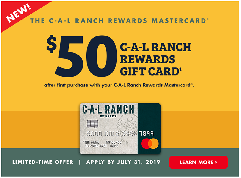 C-A-L Rewards MasterCard gifts shop savings CAL Ranch Weekly Ad Shop Flyer Sale