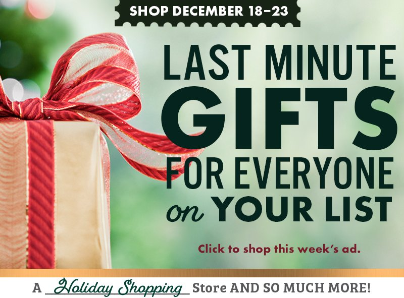 Last Minute Gifts Sale Savings Ad CAL Ranch Weekly Ad Shop
