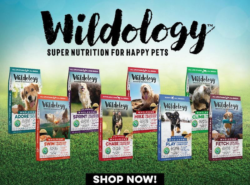 Wildology Super Nutrition for Happy Pets ingredients vitamins minerals probiotics Dog Food Cat