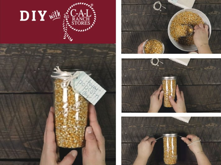 Super Easy Popcorn Gift Jars